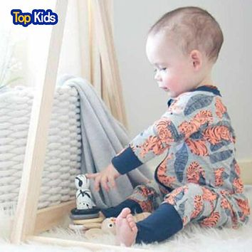 Infant Jumpsuit Long Sleeves Romper Baby Boy Girl Clothes Tiny Cottons New Born Toddler Onesuit Overall Outfit Pajamas