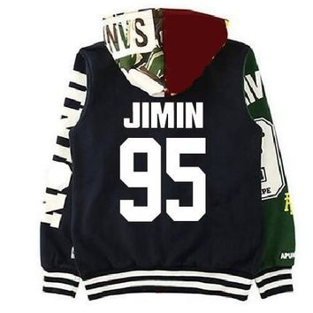 KPOP BTS Bangtan Boys Army Hoodies Brand Women K-pop Cute Women Long Hoodies  Light Fall Out Boy Harajuku Survetement Femme Marque 2017 AT_89_10