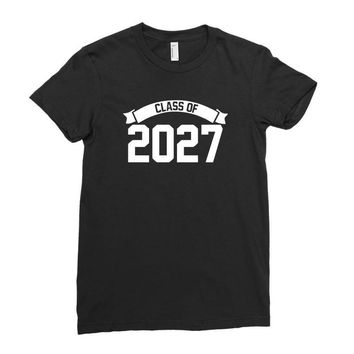 class of 2027 novelty high school elementary Ladies Fitted T-Shirt