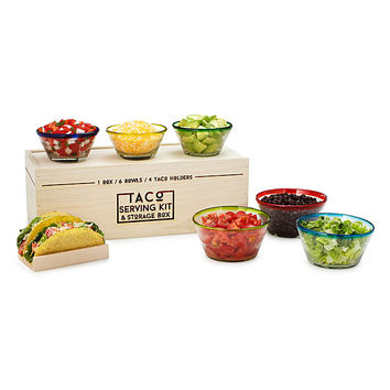 Taco Serving Kit and Storage Box | taco holders, serving kit