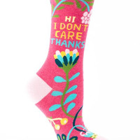 Hi, I Don't Care, Thanks Women's Socks