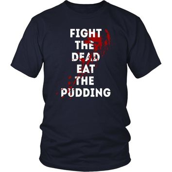The Walking Dead T Shirt - Fight The Dead Eat The Pudding - TV & Movies
