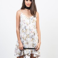Summer Floral Handkerchief Dress