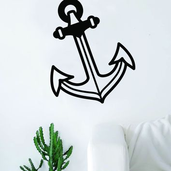 Anchor V8 Wall Decal Sticker Room Art Vinyl Home House Decor Bedroom Living Room Nautical Ocean Beach Boat Sea Travel