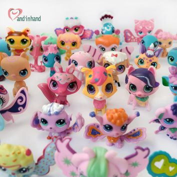38PCS Anime Action Figure Littlest Movie Toys For Children Pet Shop Cat Model Figurines Shop For Girl Kids Collection Loose Pet