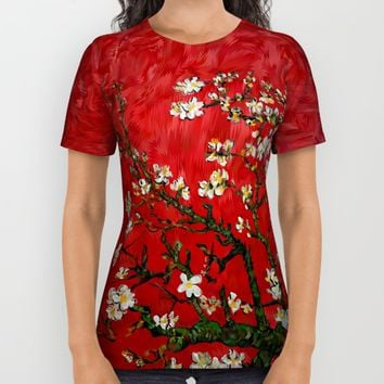 Van gogh Digital Abstract Daisy iPhone 4 4s 5 5c 6, ipod, ipad, pillow case All Over Print Shirt by Three Second