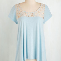 Mid-length How Mellow Can You Go? Top in Sky by ModCloth