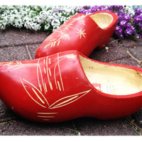 Authentic Red Clogs from Holland, Klomps, VZ Co.