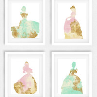Disney princess nursery, Girls room, Princess picture, Disney theme, Baby shower gift, Gift for daughter, little girls room, Cinderella art