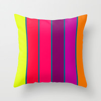 Happy Stripes #2 Throw Pillow by 2sweet4words Designs | Society6