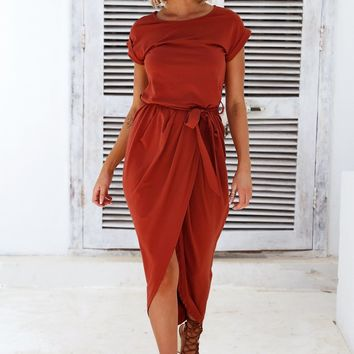 Love Bug Maxi Dress (Rust)