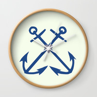 Anchors Wall Clock by sm0w