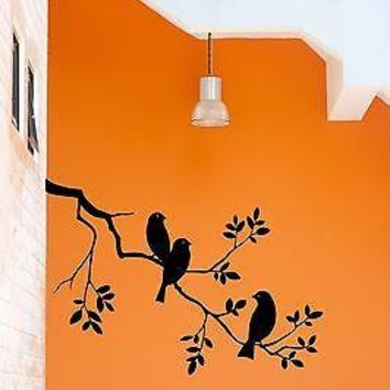 Wall Stickers Vinyl Decal Bird Branch Tree Cute Decor For Bedroom Unique Gift (z1772)