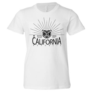 California Golden State Black Print Asst Colors Youth T-Shirt/tee