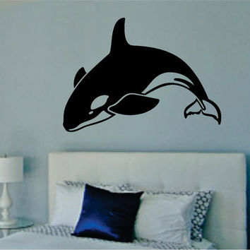 Orca Whale Decal Sticker Wall Vinyl killer whale ocean sea fish