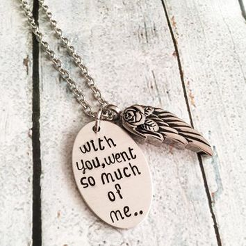 My beloved Urn necklace - Hand stamped Artisan necklace - Grief and Loss