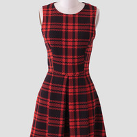 After School Plaid Dress