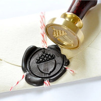 Acorn Gold Plated Wax Seal Stamp x 1