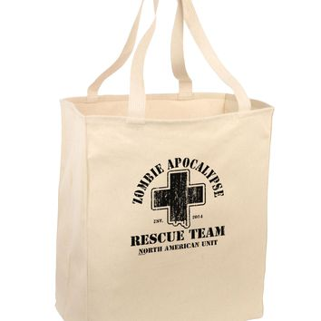 Zombie Apocalypse Rescue Team NA Unit Large Grocery Tote Bag