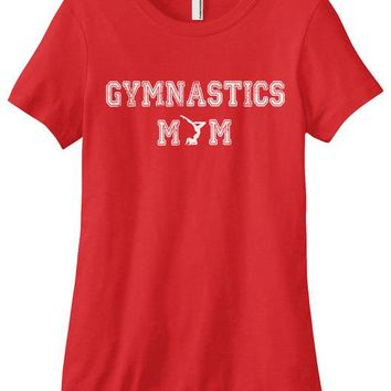 Gymnastics Mom T-shirt - Red