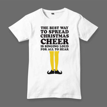 christimas elf t shirt White Black Dsign t-shirt men S,M,L,XL