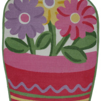 Fun Rugs Fun Time Shape Collection Flower Pot Area Rug