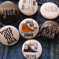 National School WalkOut Pin, Orange Walk Out for Change Button, March for Our Lives School Protest Button