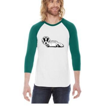 vw beatle -  3/4 Sleeve Raglan Shirt