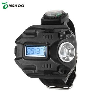 ONETOW 2-in-1 LED Watch Flashlight Wristlight Rechargeable Lamp Wrist Lighting Outdoor Torch for Camping Hiking Traveling