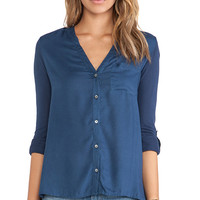 Soft Joie Evaine Top in Blue