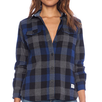 Penfield Chatham Buffalo Plaid Shirt in Navy