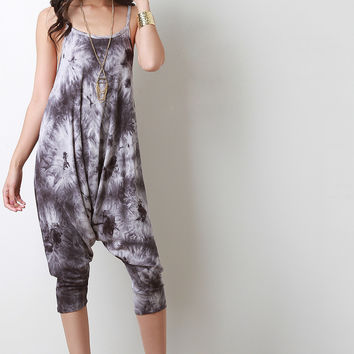 Tie Dye Drop Crotch Jumpsuit