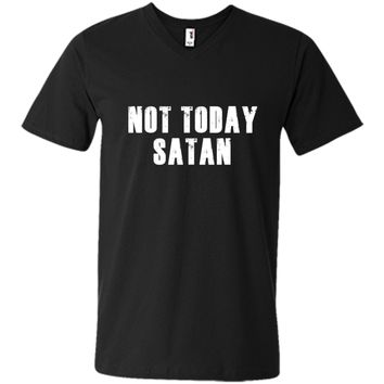 Funny Christian Tees: Not Today Satan Bible T-Shirt