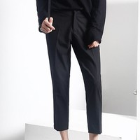 Cropped Zipper Trousers