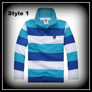 Boys Polo Shirt Long-Sleeved Warm Cotton T-shirt Sizes 2-12