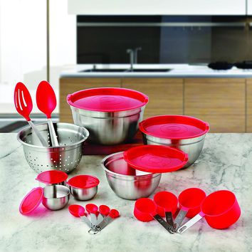 Better Homes and Gardens 23-Piece Gadget Utensil Set (Red)