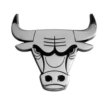 Chicago Bulls NBA Chrome Car Emblem (2.3in x 3.7in)