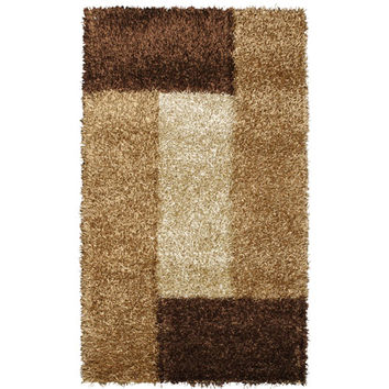Noble House PEARL230258 Pearl Cola and Camel Rectangular: 5 Ft. x 8 Ft. Rug