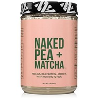 Naked Pea + Matcha Protein 1LB - Pea Protein Isolate from North American Farms and Organic Matcha - Plant Based, Vegetarian & Vegan Protein. Easy to Digest, Non-GMO, Gluten, Lactose, and Soy Free