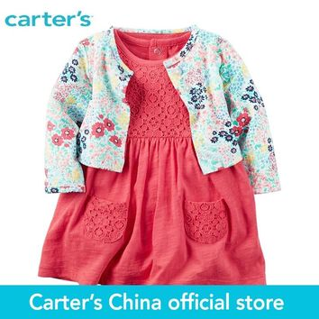 Carter's 2pcs baby children kids 2-Piece Bodysuit Dress & Cardigan Set 121H127,sold by Carter's China official store