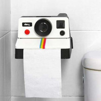 Free Shipping 1Piece Retro Polaroid Camera Shaped Toilet Roll Box / Camera Toilet Tissue Paper Holder Bathroom Accessories