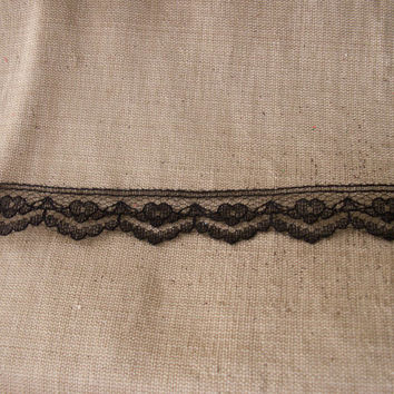 "15 YARDS, Black Lace Trim, 3/4"" wide,Sewing,Apparel,Doll Clothes,Bridal,Lace Bows,Sachet Lace Trim,Lace Embellishment,Lace for Invitations"