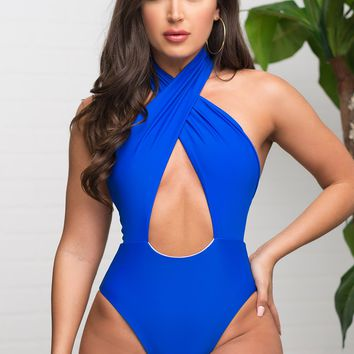 Coco Bay One Piece Swimsuit - Royal Blue
