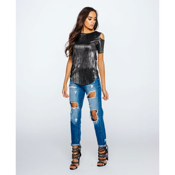 Extreme Distressed Acid Wash Mom Jeans (Women's)