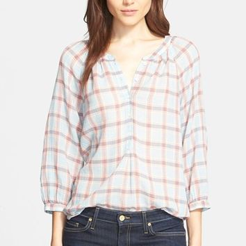 Women's Joie 'Selima' Plaid Cotton Blouse,