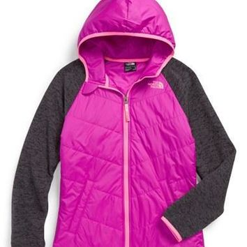 The North Face Girl's 'G Quilted' Hooded Jacket,