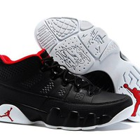 Nike Air Jordan 9 Retro Low Black/White/Red Men Sport Shoe Size US 7-13