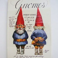 Gnomes Vintage Children's Hardcover Book with Dust Jacket Huygen & Poortvliet Abrams VG+