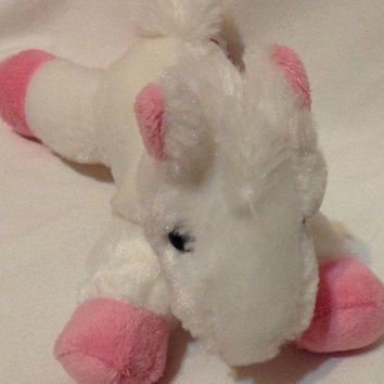 Aurora Flopsie Horse Pony Pink White Baby Mini Stuffed animal Plush Toy 8""