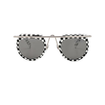Oliver Peoples x Alain Mikli Aujourd D Hui Sunglasses in Black & White | FWRD